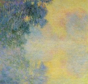 misty-morning-on-the-seine-sunrise Claude Monet 1897